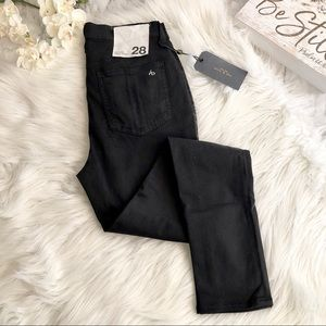 Rag & Bone High Rise Skinny Jeans NINA Black, 28